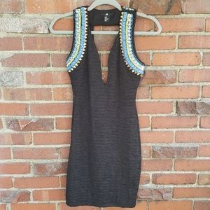 H&M Short Party Dress With Beading